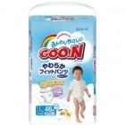 Goon 大王嬰兒紙尿褲L碼44片(男)(9-14kg)