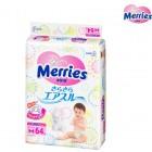 Merries 花王嬰兒紙尿片M碼64片(6-11kg)
