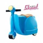 Skoot case 兒童摩托車造型行李箱(藍色)